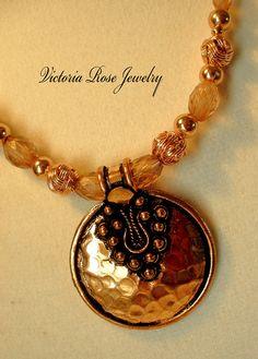 amazing handmade copper jewelry / Rich Copper Necklace Set