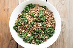 Lentils w/ Kale & Raisins — green beans & grapefruit