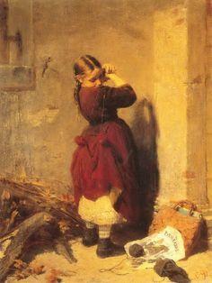 .:. Γύζης Νικόλαος – Gyzis Nikolaos [1842-1901]  Κοριτσάκι που παίζει