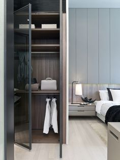 Gallery of Cluny Park Residence / SCDA Architects - 11 Wardrobe Closet, Built In Wardrobe, Bedroom Wardrobe, Master Closet, Walk In Closet, Wardrobe Doors, Master Room, Architecture Moderne, Wardrobe Design