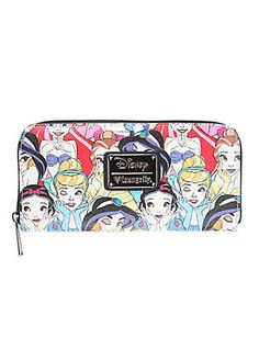 Loungefly Disney Princesses Zip Wallet,