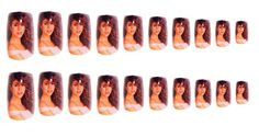 Everything about these Mariah Carey press-on nails is amazing. AMAZING. / 13 Bitchin' '90s-Inspired Nail Art Designs