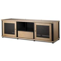 Salamander Synergy 236 A/V Cabinet W/ Two Doors U0026 Media Drawer (Maple