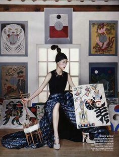 Lee Hye Jung, Lee Hyun Yi, Song Kyung Ah & Park Sera for Vogue Korea August 2013