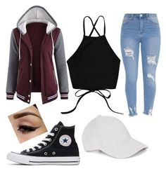 """Untitled #74"" by arkatonic on Polyvore featuring Converse"