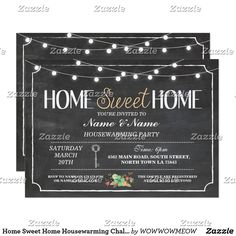 Shop Home Sweet Home Housewarming Chalkboard Key Invite created by WOWWOWMEOW. Housewarming Party, Housewarming Invitations, Custom Invitations, Bath And Beyond, Youre Invited, White Envelopes, House Warming, Rsvp, Chalkboard