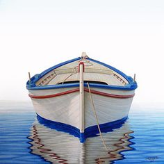 Boats Painting - Greek Boat by Horacio Cardozo Eloy Morales, Boat Art, Boat Painting, Types Of Painting, Boat Design, Art Pages, The World's Greatest, Art For Sale, Outdoor Gear