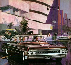 Plan59 :: Classic Car Art :: Vintage Ads :: 1961 Olds 88