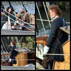 #Outlander cast filming in Scottish town of Troon. #Behind_The_Scenes.