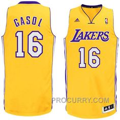 adidas Pau Gasol Los Angeles Lakers Revolution 30 Swingman Home Jersey -  Gold Air Jordan 47cda9885