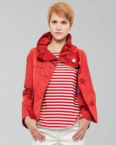 Boxy Tech-Fabric Swing Jacket by Akris Punto at Bergdorf Goodman.