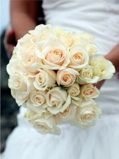 ivory and cream roses bouquet