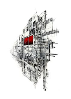KRob Architecture Competition - Architectural illustration, delineation and drawing competition. Architects and architecture students submit architectural sketches for architecture competition. Architecture Graphics, Architecture Drawings, Architecture Details, Famous Architecture, Architecture Diagrams, Drawing Block, Cad Drawing, Section Drawing, Drawing Wallpaper