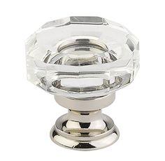Lowell Crystal Knob | Crystal & Porcelain | Cabinet Knobs | Emtek Products, Inc.