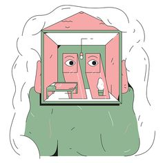 It's Nice That | Leander Assmann's illustrations are full of paired-back shapes and patterns