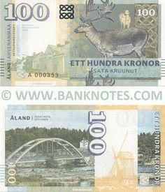 Aland 100 Kronor 2018 - Ålandic Currency & Bank Notes, European Paper Money, Papier Monnaie, Billetes, World Currency, Banknotes, Banknote, Bank-Notes, Coins & Currency, Collector, Pictures of Money