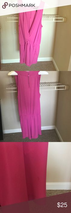 Bcbg romper❤️ Super cute color. Size small. 100% polyester. I've shown in photos some minor staining and the stitching pattern is off. This has cute pockets on the sides. Send me an offer :) BCBG Dresses