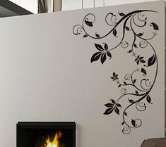 Floral moderne 10 - uBer Stickers Wall Decal vinyle décor Art Sticker amovible murale moderne A437 sur Etsy, $26.54 CAD