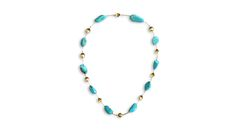 Turquoise & Gold Necklace Bespoke Creations by Maree London.
