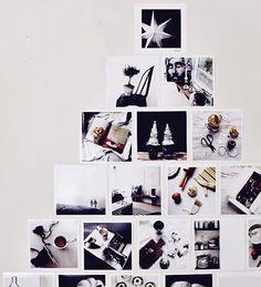 Una buena idea: crea tu árbol de Navidad solo con fotos