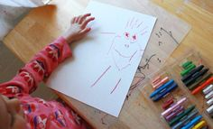 Kids' first realism drawings... When did your children begin to draw faces and people?