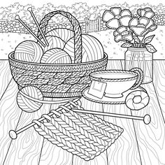 The World of Debbie Macomber: Come Home to Color: An Adult Coloring Book Coloring Pages For Grown Ups, Cute Coloring Pages, Adult Coloring Book Pages, Coloring Pages To Print, Printable Coloring Pages, Free Coloring, Coloring Sheets, Coloring Books, Colouring