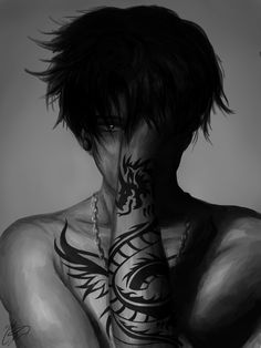 "troysredglasses: "" Drawing tattoos is a nightmare, but Levi looks too good with them T_T """