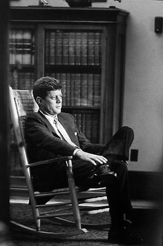 JFK - Rocking Chair, Senate Office  Summer 1958