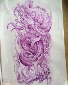 Baby dragon needs new owner  @polandtattoos @worldfamousink @fkirons @japanesetattoo @japanesetattooart @irezumicollective @tattooistartmag @inkedmag @skinart_mag @tf_mag @art.japan @tattoolifemagazine @worldofpencils #pictureoftheday #art #artist #drawing #sketching #doodling