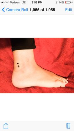 The ability to stop, but the decision to carry on. Keep going no matter what. #perseverance #semicolon #tattoo