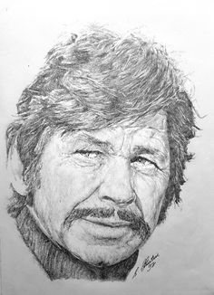 Pencil Drawing Patterns Charles Bronson in Pencil by Steven Streetin Portrait Au Crayon, Pencil Portrait, Portrait Art, Black And White Sketches, Black And White Portraits, Portrait Sketches, Art Sketches, Graphite Art, Star Illustration