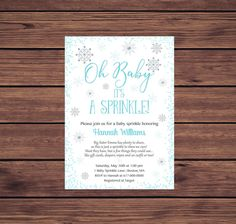 Baby Sprinkle Invitations, Photo Invitations, Digital Invitations, Birthday Invitations, Photo Center, Baby Winter, Color Card, Printing Services, Photo Cards