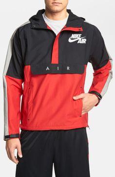 Nike Heritage Air Half Zip Jacket in Red for Men (Red/black)