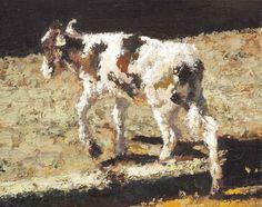 Yisrael Dror Hemed, Calf, 2012, oil on canvas, 40x49 cm
