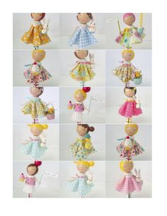 Lots of ideas for clothes peg dolls :-) Fairy Crafts, Doll Crafts, Diy Doll, Wood Peg Dolls, Clothespin Dolls, Clothes Pegs, Clothes Crafts, Doll Clothes Patterns, Doll Patterns