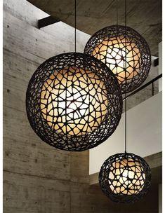 Office Lighting, Home Lighting, Pendant Lighting, Japanese Interior, Ball Lights, Apartment Interior Design, Light Decorations, Light Fixtures, Chandelier