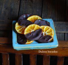 Dulces bocados: Mandarinas confitadas con chocolate