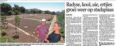 Radyse,kool,uie,ertjies groei weer op stadsplaas.  Madame Zingara gets involved in the local community and helps pioneer Urban City Farming in SA.
