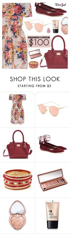 Rosegal - Dresses Under $100 by dora04 on Polyvore featuring Loeffler Randall, Too Faced Cosmetics, Charlotte Russe and Urban Decay