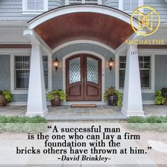 Don't let the bricks weigh you down - do something with them & create your own foundation.  #quote #inspiration #life #Melges