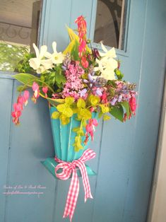 May Day Door Knob Basket | Hang a May Day Basket on your door instead of a wreath!