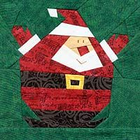 Roly OPoly Santa PaperPieced Pattern at Paper Panache