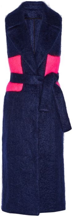 MSGM Belted two-tone mohair-blend gilet https://api.shopstyle.com/action/apiVisitRetailer?id=529696482&pid=uid8721-33958689-52
