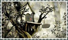 """""""OLLIE'S FOREST"""". VALORES: INFANCIA, IMAGINACIÓN. https://vimeo.com/album/2298055/video/64774119  Un niño que vive en un árbol, convierte el bosque que lo rodea en el lugar que su imaginación desea."""