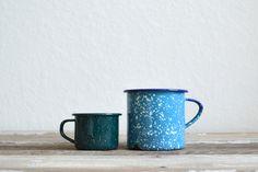 Enameled mugs