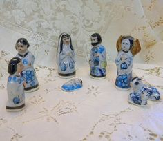 Vintage Mexican pottery nativity set in by TreasuresFromTexas, $18.00