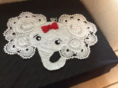 I would like to share this awesome elephant decorations, made by Joan Rea from our Elephant Rug Pattern. It is done in #10 crochet cotton thread & 2.75 mm hook. MEASUREMENTS: 16 inches wide. I am so impressed!   Pattern from: https://irarott.com/Josefina_and_Jeffery_Elephant_Rug_Crochet_Pattern.html