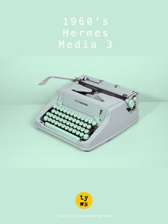 The legendary Hermes Media 3! *Typewriter Workshop* http://www.etsy.com/shop/TypewriterWshop