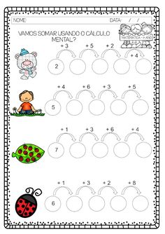 Kindergarten Math Worksheets, Preschool Learning Activities, Teaching Math, Preschool Activities, Math Lesson Plans, Math Lessons, Brain Teasers For Kids, Pattern Worksheet, Math School