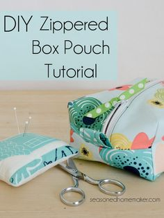 Zippered Box Pouch -- sewing tutorial
